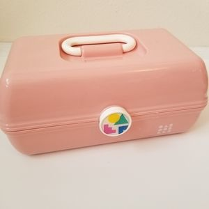 CABOODLES Retro On The Go Makeup Case Pink